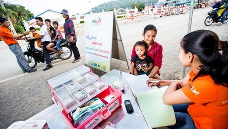 Malaria screening checkpoint in Thailand © The Global Fund, John Rae