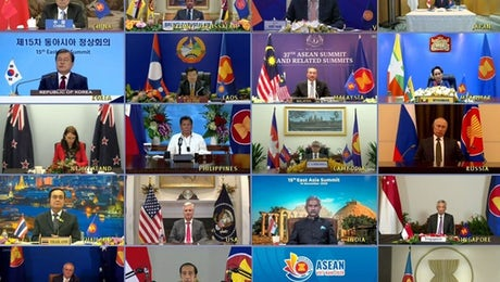 Heads of States at the 15th East Asia Summit, November 11, 2020.  ©  ASEAN
